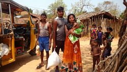 Dry ration distribution to Migrant tribal communities
